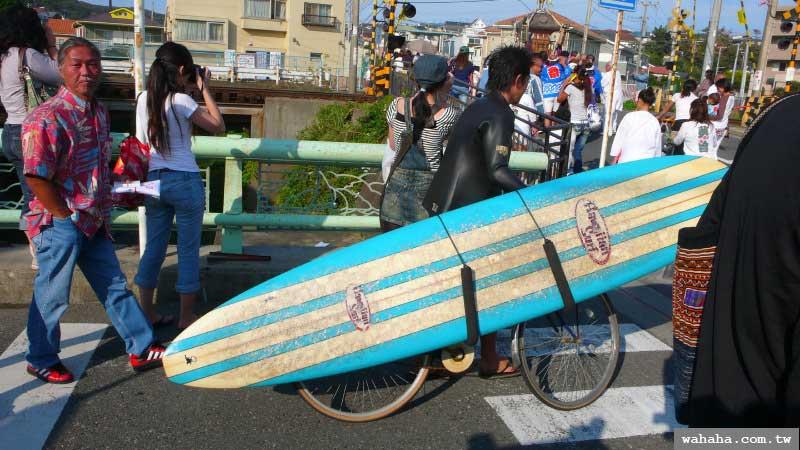 """湘南海岸的""""衝浪板""""腳踏車"""