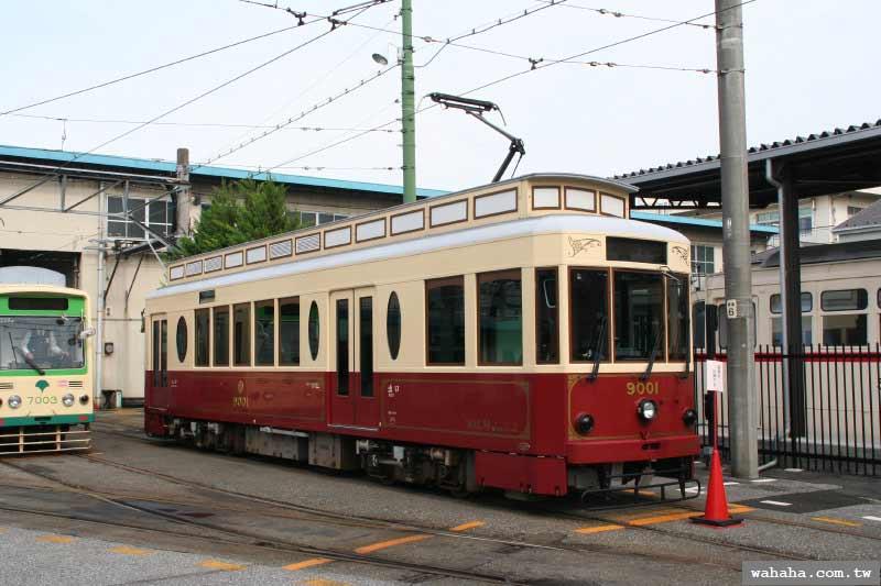 都電荒川線:復古風格的9000型電車
