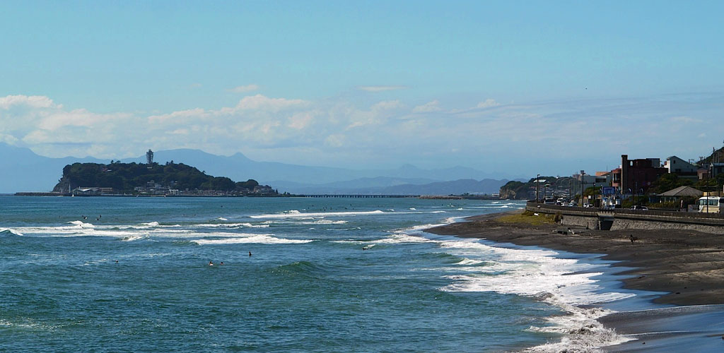 日本隨手拍:鎌倉坂ノ下的「注意海嘯」標示