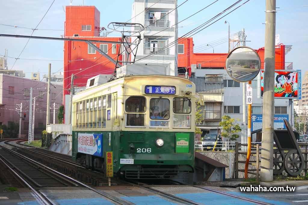 長崎電鐵即將遠渡重洋的 206 號車