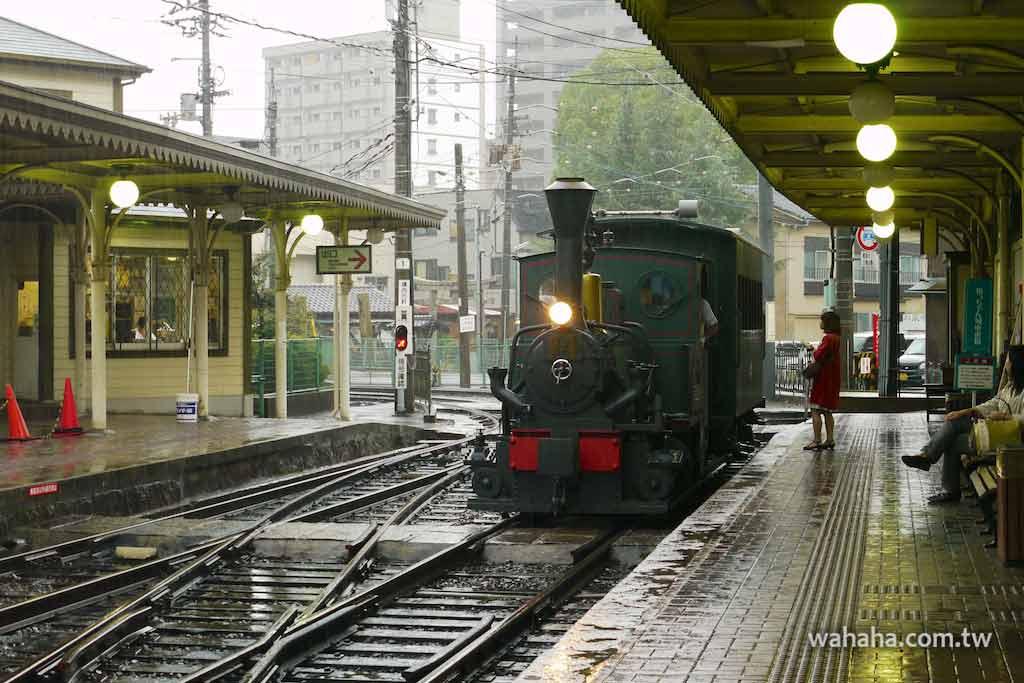 怒濤更新之路面電車(19):伊予鐵道市內線雨中即景