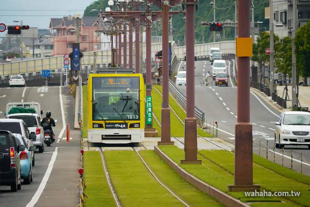 怒濤更新之路面電車(12):賞心悅目的鹿兒島市電軌道綠化