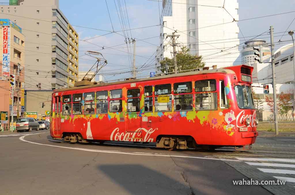 怒濤更新之路面電車(34):北海道札幌市電的可口可樂廣告電車