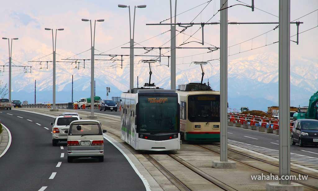 怒濤更新之路面電車(43):車窗外的風景,立山連峰