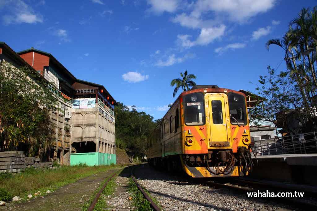 改修中的台鐵平溪線菁桐車站