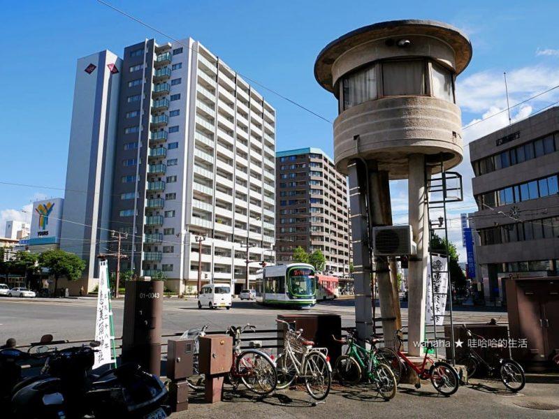 廣島電鐵拆除位在十日市交差點的「操車塔」